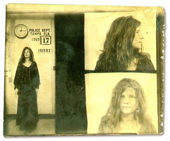 JANIS JOPLIN - Janis Joplin was arrested in November 1969 in Florida and charged with disorderly conduct after yelling obscenities at police officers during a Tampa concert. Charges were later dropped after it was ruled that the singer's actions were an exercise of free speech.