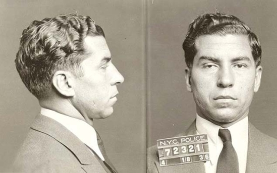 LUCKY LUCIANo - Salvatore Lucania, better known as Lucky Luciano, was the architect of the American Mafia. He is pictured here in a 1936 New York Police Department mug shot.