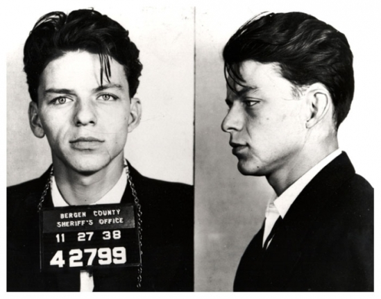 Frank Sinatra. This young fellow was busted for adultery. Yea it was a felony back then... Dippen with someone else's misses can cost you shame unless you Frank Sinatra, then it gets dismissed.
